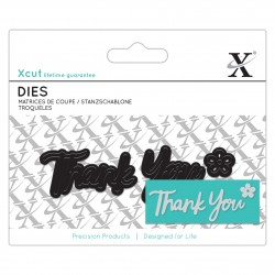 XCUT Mini Sentiment Die (3pz) - Thank You
