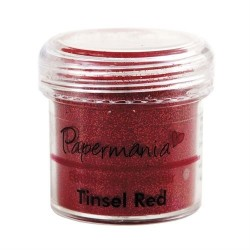 Embossing Powder Tinsel Red -  Polvere per embossing rosso glitterato 28gr.