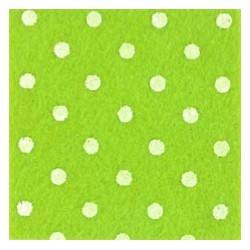 Pannolenci pois verde pistacchio/bianco