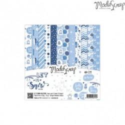 Paper Pack Modascrap Let it snow 15x15cm