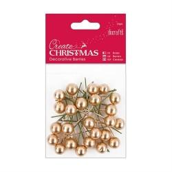 Decorative Berries (24pz) - Gold