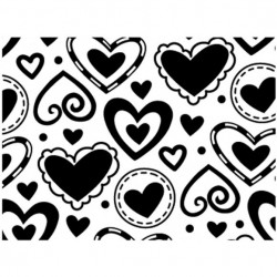 Embossing Template Darice layerd hearts