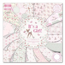 "First edition Paper pad IT'S A GIRL 12""x12"""
