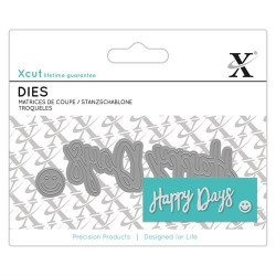 XCUT Mini Sentiment Die (3pz) - Happy Days