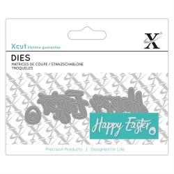 XCUT Mini Sentiment Die (3pz) - Happy Easter