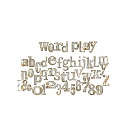 Sizzix Bigz XL Alphabet Die - Word play