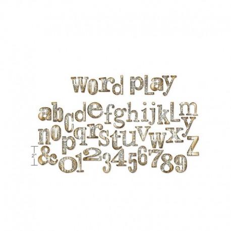 Sizzix Bigz XL Alphabet Die - Word play