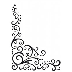 Embossing Template Darice Scroll Flourish