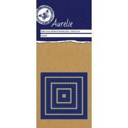 Set Fustelle Aurelie Mini Cross-Stiched Square Nesting Die (4pz)