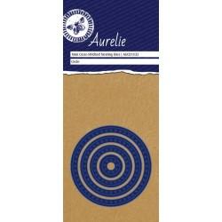 Set Fustelle Aurelie Mini Cross-Stiched Circle Nesting Die (4pz)