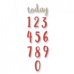 Sizzix Thinlits Die Set 11PK - Brush Numbers