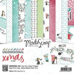 Paper pack Modascrap UNCONVENTIONAL XMAS 15x15cm