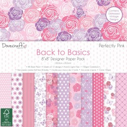 """Dovecraft Dovecraft Back to Basics Perfectly Pink 8""""x8"""" Paper Pack"""