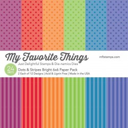 My Favorite Things Dots & Stripes Bright 6x6 Paper Pack