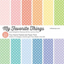 """My Favorite Things Tiny Hearts Pastels 6""""x6"""" Paper Pack"""