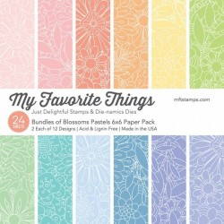 """My Favorite Things Tiny Bundles of Blossoms Pastels Brights 6""""x6"""" Paper Pack"""
