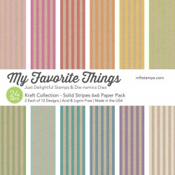"""My Favorite Things Kraft Collection 6""""x6"""" Paper Pack"""