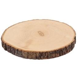 Fetta di albero con corteccia diametro 16-18cm