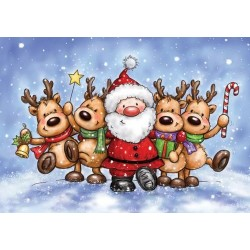 Timbro Clear Stamp Wild Rose Studio Jolly Reindeer