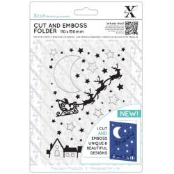 XCUT Cut & Emboss Folder -  Santa Across the Rooftops