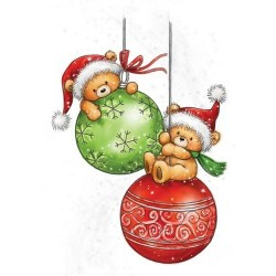 Timbro Clear Stamp Wild Rose Studio Teddy Baubles
