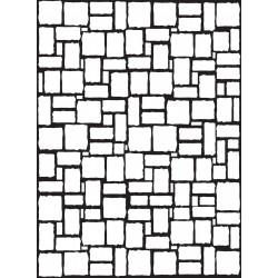 Embossing Template Darice Brick waqll pattern