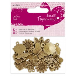 Papermania Charm Pack (21pcs) -  Butterfly & flowers
