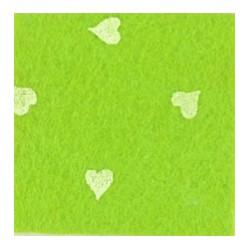 Pannolenci cuori verde pistacchio/bianco