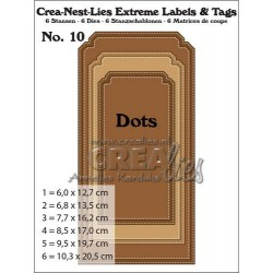 Crealies Crea-nest-dies extreme labels e tags n.10 with dots