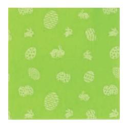 Pannolenci stampato pasquale verde pistacchio/bianco