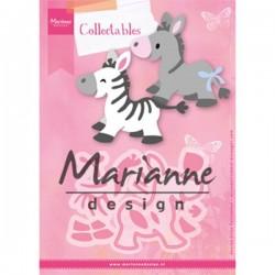Marianne Design Collectables Eline`s Zebra & Donkey COL1447