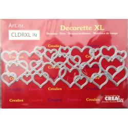 Crealies Decorette no. 14 hearts