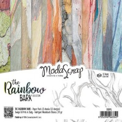 Paper Pack Modascrap The rainbow bark 15x15cm