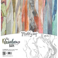 Paper Pack Modascrap The rainbow bark 30x30cm