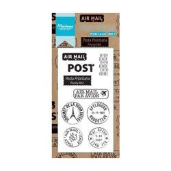 Set di timbri Marianne Design clear stamps Postage set 8pz