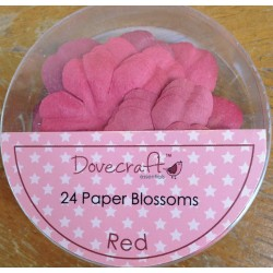 Dovecraft Paper blossom red