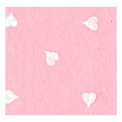 Pannolenci cuori rosa baby/bianco