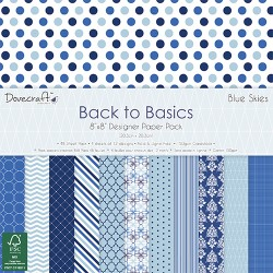 "Dovecraft back to basics blue skies 8""x8"""