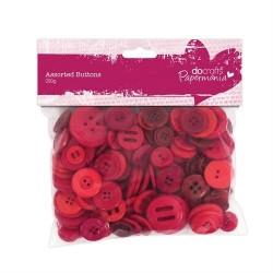 Bottoni assortiti, 250gr - Red