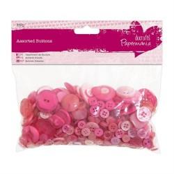 Bottoni assortiti, 250gr - Pink