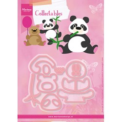 Marianne Design Collectables Eline's panda & bear