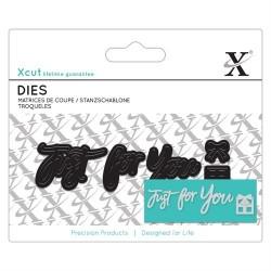 XCUT Mini Sentiment Die - Just For You (5 pezzi)