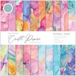 Pad di carte Craft Consortium - Ink drop - Candy