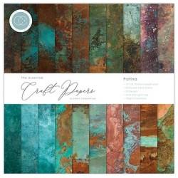 Pad di carte Craft Consortium - Ink drop - Patina