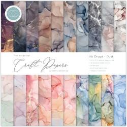 Pad di carte Craft Consortium - Ink drop - Dusk