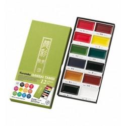 Set 12 Colori Gansai Tambi Sets Kuretake