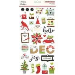 """Simple Stories -Make it merry Collection Kit 12x12"""""""