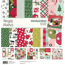 """Simple Stories -Holly Days Collection Kit 12x12"""""""