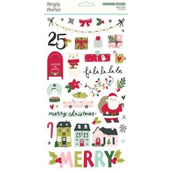 Simple Stories - Make it merry - Chipboard