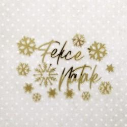 Felice Natale - Abbellimenti in acrilico specchiato - Krea